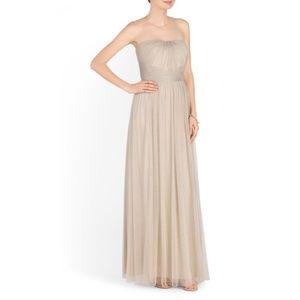 Ralph Lauren Champagne Strapless Dress Size 6